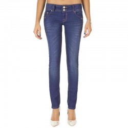 GEORGET INDIGO COATED JEANS